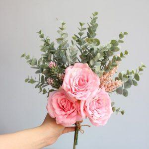 bó hoa hồng giả